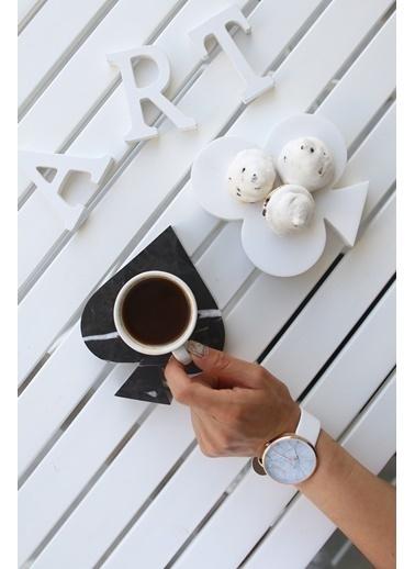 3Wdesign Maça-Sinek Dekoratif Mermer Obje - 2 Li Takım Siyah
